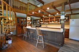 generous kitchen prep space