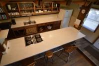 Prep bar in kitchen
